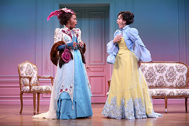 Antoinette Robinson, Elizabeth Heflin - Westport Playhouse - A Flea In Her Ear - photo by C. Rosegg