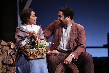 Brittany Bradford, Edward O'Blenis - Westport Country Playhouse - Flyin' West - photo by C. Rosegg