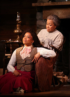 Keona Welch, Brenda Pressley - Westport Country Playhouse - Flyin' West - photo by C. Rosegg