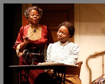 Aleta Mitchell, Nikki E. Walker - Intimate Apperal - Westport Playhouse - Photo by Rosegg