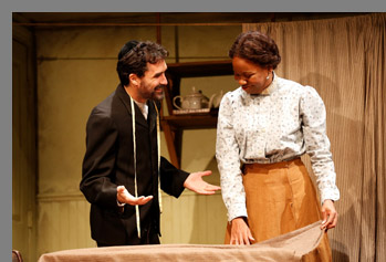 Tommy Schrider, Nikki E. Walker - Intimate Apperal - Westport Playhouse - Photo by Rosegg