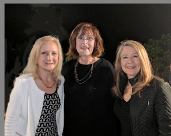 Kandis Chappell, Mia Dillon, Debra C. Argen - photo by Luxury Experience