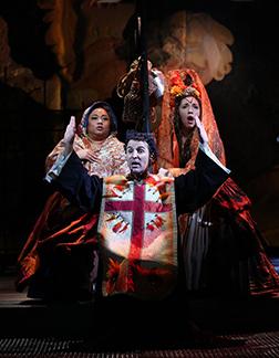 Westport Country Playhouse - Man of La Mancha - Lulu Picart, Carlos Encinias, Paola Hernandez - photo by C. Rosegg