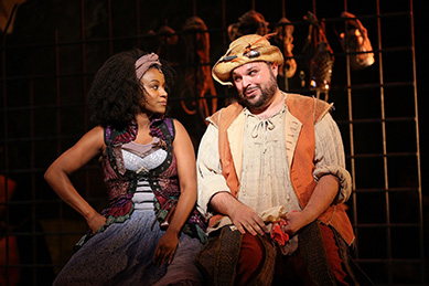 Westport Country Playhouse - Man of La Mancha - Gisela Adisa, Tony Manna - photo by C. Rosegg