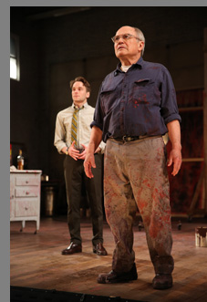 Patrick Andrews, Stephen Rowe  in RED at Westport Country Playouse, Westport, CT - photo by Carol Rosegg