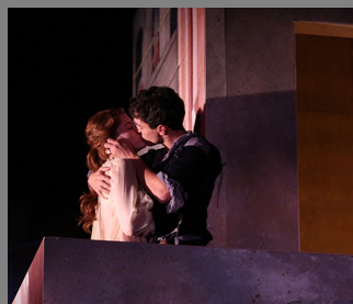 James Cusati-Moyer, Nicole Rudenburg - Romeo and Juliet -Westport Country Playhouse - photo by Carol Rosegg