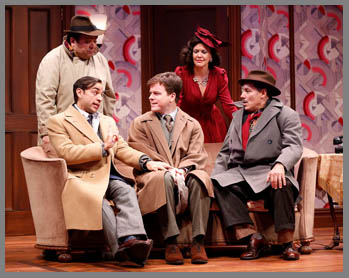 Westport County Playhouse - Room Service Cast - Ben Stenfeld, Eric Bryant, Jim Bracchitta, Richard Ruiz, Zoe Winters