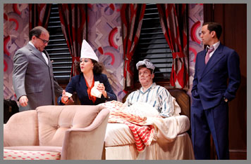 Westport County Playhouse - Room Service Cast - Ben Stenfeld, Donald Corren,Eric Bryant, Zoe Winters