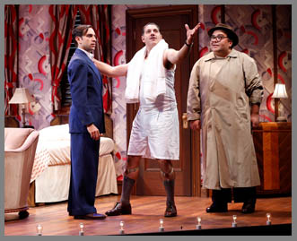 Westport County Playhouse - Room Service Cast - Ben Stenfeld, Eric Bryant,  Richard Ruiz