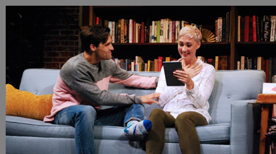 Jessica Love, Chris Ghaffir - Sex with Strangers - Westport Country Playhouse - photo by B. Ysemerick