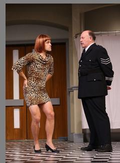 Chris Ghaffari, Julian Gamble - What the Butler Saw - Westport County Playhouse - Westport, CT, USA - photo by Carol Rosegg