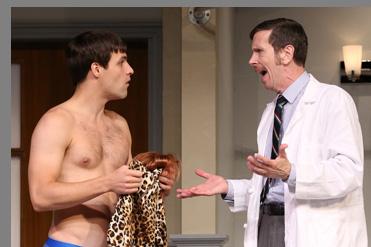 Chris Ghaffari, Robert Stanton - What the Butler Saw - Westport County Playhouse - Westport, CT, USA - photo by Carol Rosegg