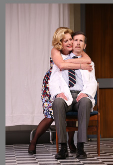 Patricia Kalember, Robert Stanton - What the Butler Saw - Westport County Playhouse - Westport, CT, USA - photo by Carol Rosegg