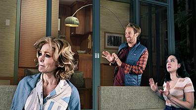 Sara Blues, Denver Milord, Elizabeth Helfin - Tiny House - Westport Country Playhouse - photo by Alex Mongillo