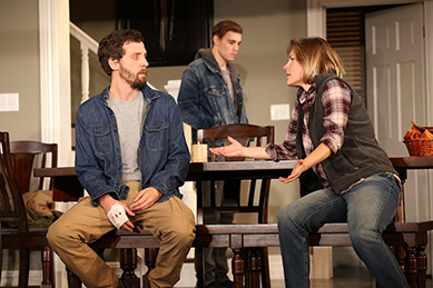 Westport Country Playhouse - Thousand Pines - Joby Earle, Andrew Veenstra, Kelly McAndrew - Westport, CT - photo by C. Rosegg