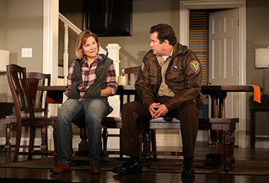 Westport Country Playhouse - Thousand Pines - Kelly McAndrew, William Ragsdale - Westport, CT - photo by C. Rosegg