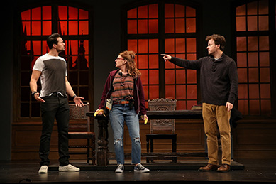 Westport Country Playhouse - The Understudy - Brett Dalton, Andrea Syglowski, Eric Bryant - photo by Carol Rosegg