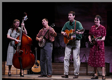 Westport Country Playhouse - Woody Sez - Katie Barton, David Finch, David Lutken, Leenya Rideout - by P Chenot