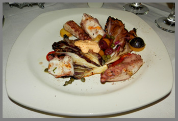 Grilled Octopus - 75 Main Restaurant and Lounge, Southampton, NY, USA - photo by Luxury Experience