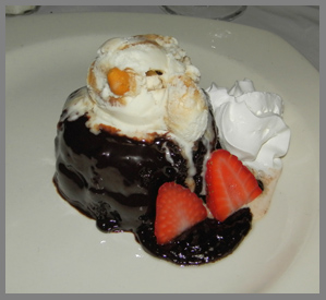 75 Main Lava Cake - 75 Main Restaurant and Lounge, Southampton, NY, USA - photo by Luxury Experience