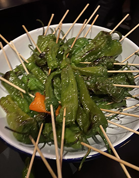 Grilled Shishito Peppers - AVA Social, NYC- photo by Luxury Experinece