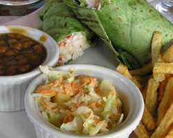 Barbecue Shrimp Wrap
