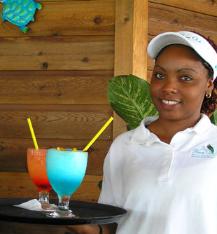 Lovenia Munroe with Tropical Cocktails