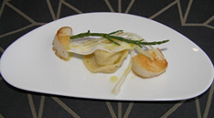 Pan Fried Scallops with Fennel Tortellini
