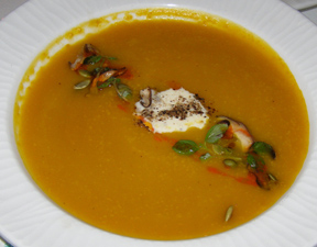 Squash Soup - allium restaurant + bar, Great Barrington, Massachusetts - Photo By Luxury Experience