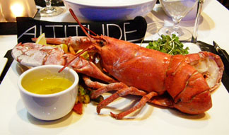 Altitude Seafood and Grill - Lounge Restaurant at Le Casion, Mont-Tremblant - lobster - Photo by Luxury Experience