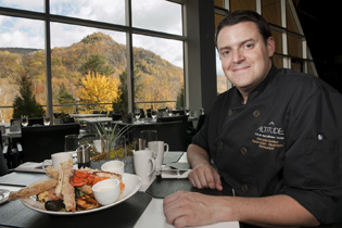 Chef Christian Bolducl - Lounge Restaurant at Le Casiono de Mont-Tremblant, Canada