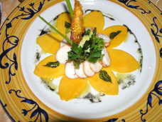 Aioli Restaurant lobster and mango salad