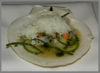 Live Diver Scallops - Restaurant Aquavit, New York, USA - photo by Luxury Experience