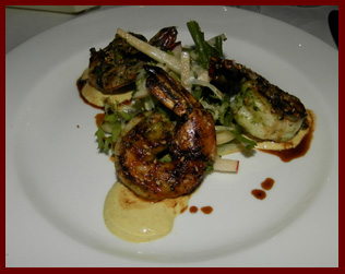 Grilled Shrimp - Artisan Restaurant, Southport, CT - photo by Luxury Experience