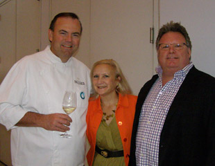 Chef Charlie Palmer, Debra Argen, Chef David Burke - Photo by Luxury Experience