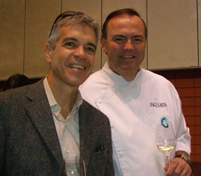 Tim Bartley and Chef Charlie Palmer - photo by Luxury Experience