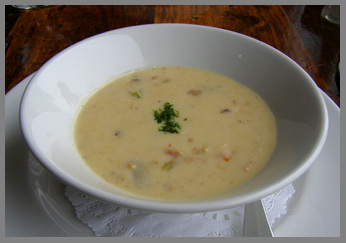 New England Clam Chowder - Black Point Inn, Maine - Photo by Luxury Experience