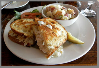 Grilled Crab Melt  - Black Point Inn, Maine - Photo by Luxury Experience