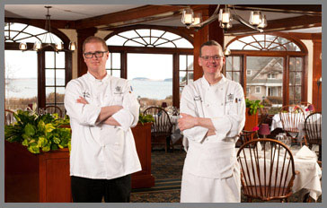 Chef William Benner and Chef de Cuisine Michael Wiechec - Black Point Inn, Maine, USA