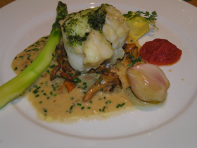 Cod with pesto at Restaurant Pascal