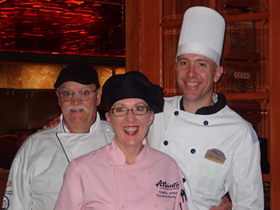Chef Clay Slieff, Pastry Chef Kayline Johnson, Chef David Holman - Bistro Napa - Atlantis Casino Resort Spa - photo by Luxury Experience