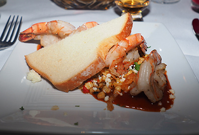 BBQ Shrimp - Bistro Napa - Atlantis Casino Resort Spa - photo by Luxury Experience
