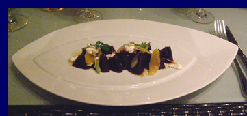 Beet Carpaccio - Blanca Blue Restaurant and Lounge - photo by Luxury Experience