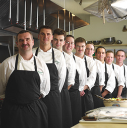 Chef Christopher Brooks and Team - The Dining Room at Blantyre, Blantyre, Lenox, Massachusetts, USA