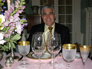 Edward in the Moire Room - The Dining Room at Blantyre, Blantyre, Lenox, Massachusetts, USA - Photo by Luxury Experience