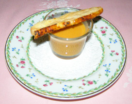 Fish Soup Amuse Bouche - The Dining Room at Blantyre, Blantyre, Lenox, Massachusetts, USA - Photo by Luxury Experience