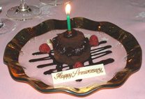 Anniversary Dessert - The Dining Room at Blantyre, Blantyre, Lenox, Massachusetts, USA - Photo by Luxury Experience