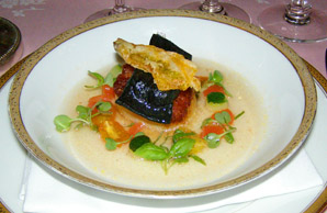 Scallop with Squid Ink Pasta - The Dining Room at Blantyre, Blantyre, Lenox, Massachusetts, USA - Photo by Luxury Experience