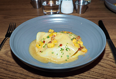 Lobster Raviolo - The Boathouse - Kennebunkport, ME- photo by Luxury Experience