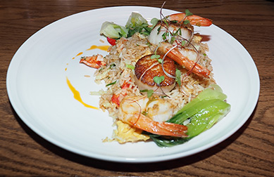 Seared Shrimp and Scallops - The Boathouse - Kennebunkport, ME- photo by Luxury Experience